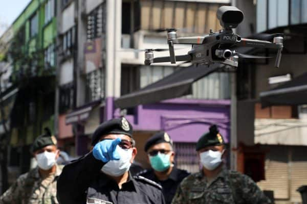 Drones used to monitor public movement, say police